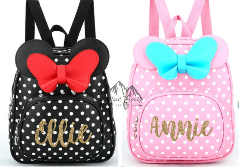08d70b309f0 FAST SHIPPING Disney Minnie Mouse Girls Backpack Childs Size