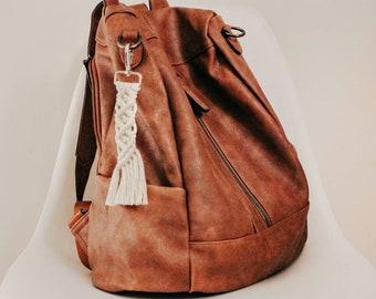 Macrame keychain   Boho Keychain   Purse Accessory   Bag Accessory   Bridesmaid Gift   Keychain   Boho Accessories   Fall Accessories  