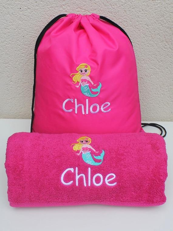 Personalised Puppy Dog Faces Kids PE Swimming School Children/'s Drawstring Bag