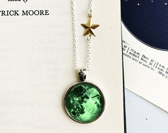 Glow-In-The-Dark Moon Necklace