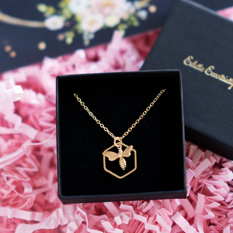 Wish I Could Bee With You Bee Necklace letterbox gift