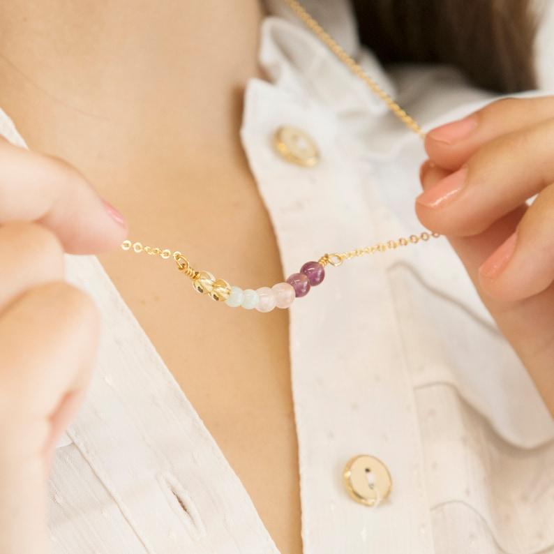 Wellbeing Gemstone Necklace and Bracelet Gift Set