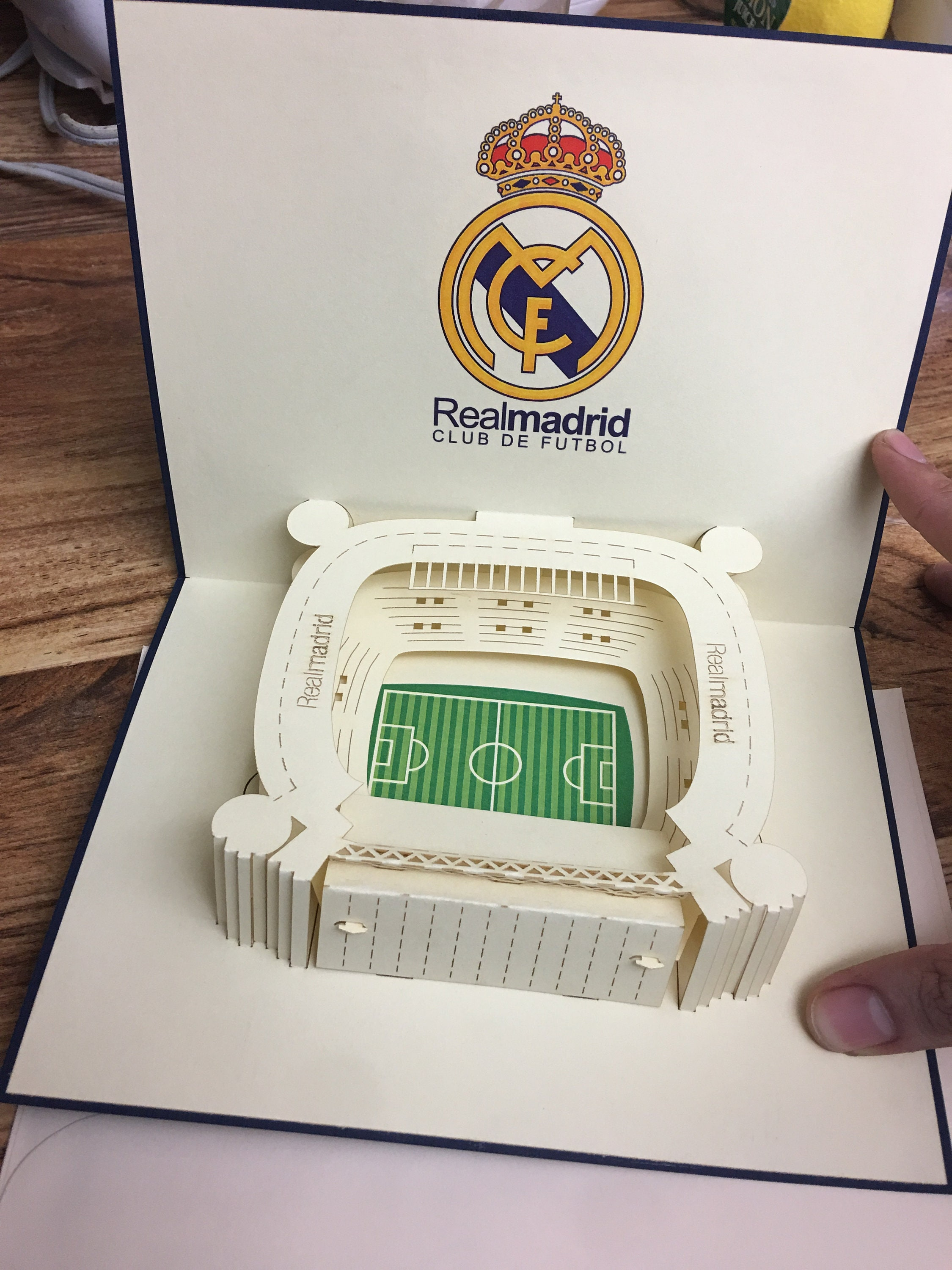 Real Madrid 3d Pop Up Greeting Card For All Occasions Etsy