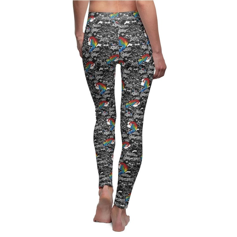 Plus size Clothes Leggings for Women Yoga Pants Patterned Tights Black Tights Graffiti Leggings High Waisted Pant Running Pant