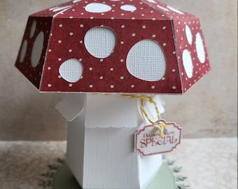 3D Mushroom Gift Box ( Digital Cut file !! )