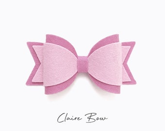 Classic Bow Template Svg Bow Svg Bow Template Hair Bow Etsy