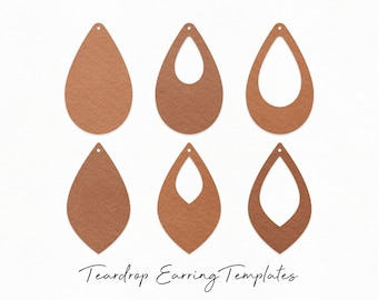 Leather Earring Template Etsy