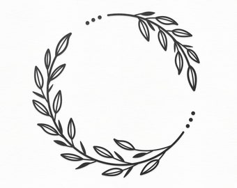 Leaf Wreath Svg Etsy