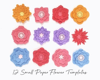 Paper Flower Svg Etsy