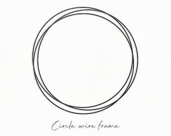 Circle Monogram Svg Etsy