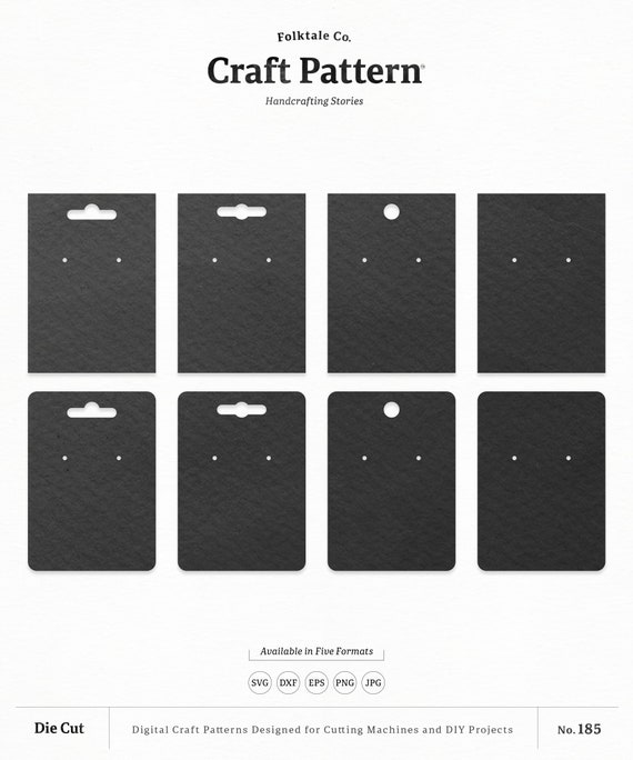 Necklace Display Cards Jewelry Display Cards Jewelry Display Cards SVG Rectangle Necklace Display Cards SVG