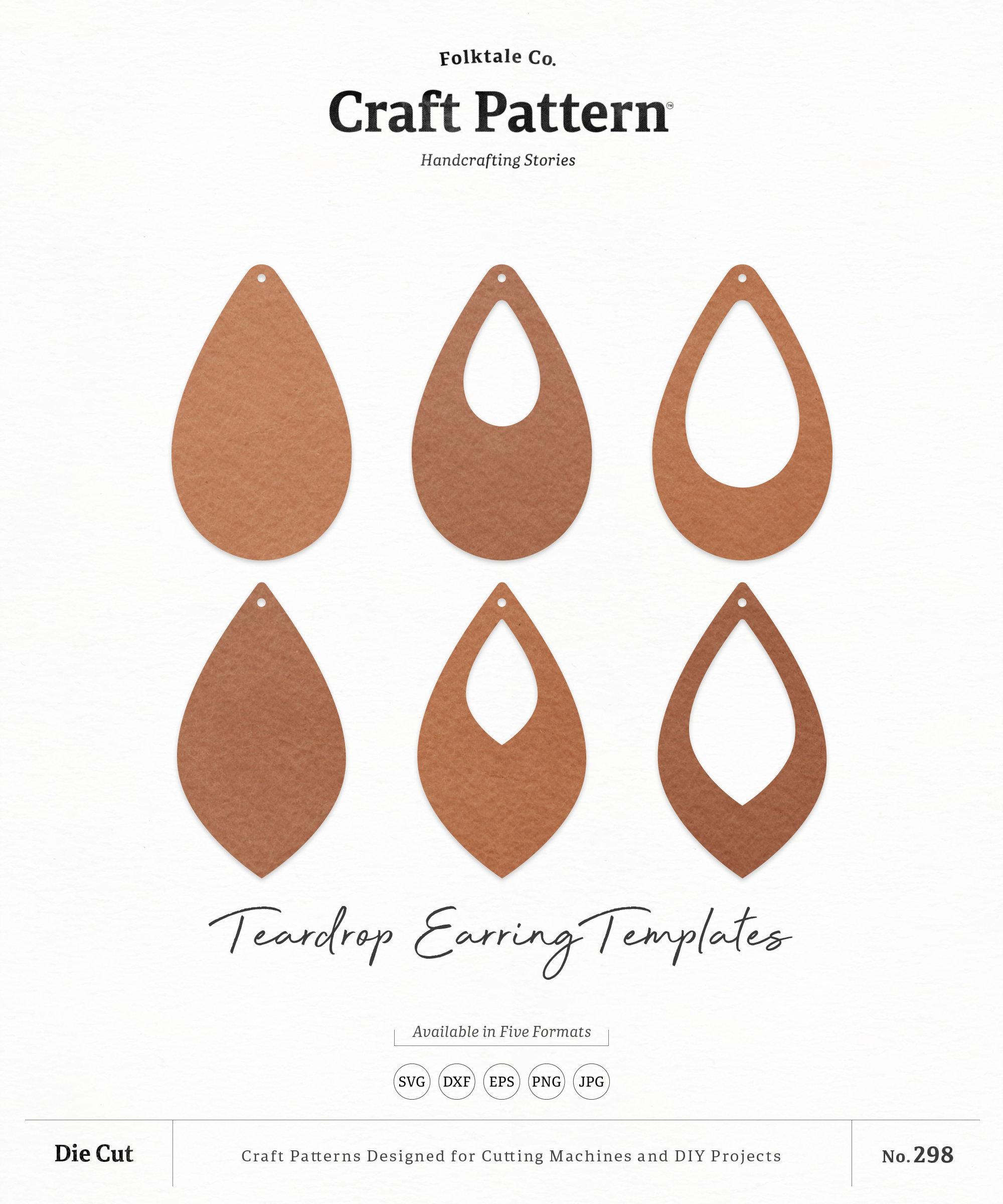 Download Teardrop Earrings SVG Tear Drop Earring SVG Earring | Etsy