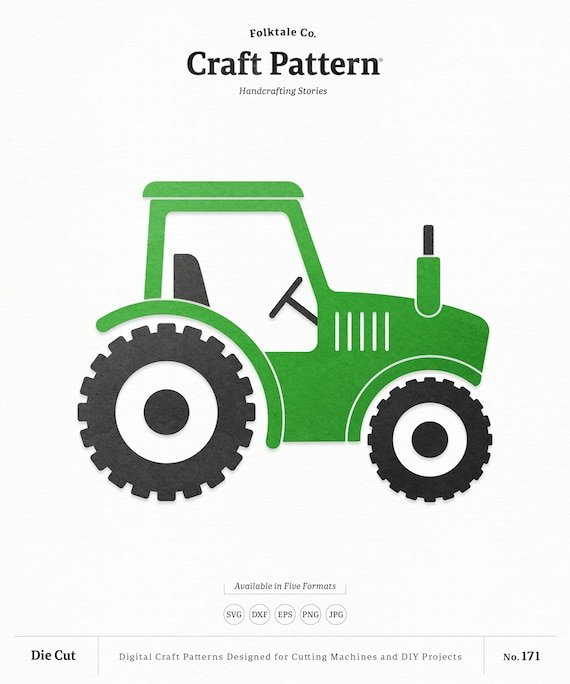 Farm Tractor Svg Craft Pattern Tractor Svg Farm Svg Farm Etsy