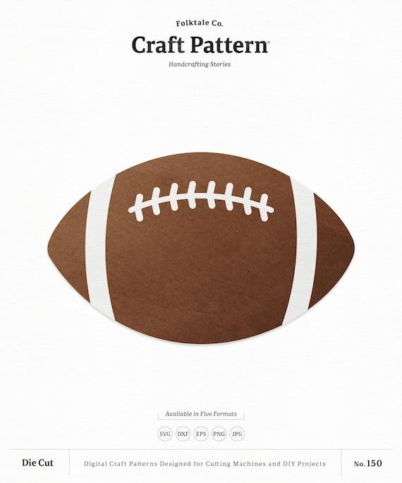 Football Svg Craft Pattern Football Svg Sports Svg Football Etsy