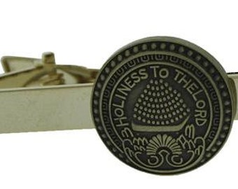 One Moment In Time J75S LDS Unisex CTR Tie Bar Alloy Silver and Gold Tone