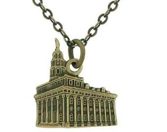 Necklace Nauvoo Temple Antique Gold - J108AG