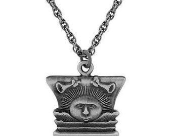 Necklace Nauvoo Temple Sunstone Antique Silver - J10
