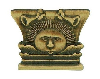 """Pin Tie Tack """" Nauvoo Temple Sunstone"""" Antique Gold - J11"""