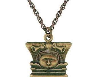 Necklace Nauvoo Temple Sunstone Antique Gold - J12