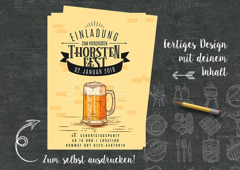 Geburtstag Einladung Selbst Drucken Jubiläum Bier Zeltparty Etsy
