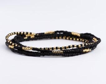 Bracelet, wrap bracelet, Seed beads, stackable