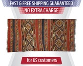 Kilim Rug Bohemian, Rustic Home Decor, Multi Color Geometric Carpet, 5 ft Turkey Area Rug, 2.9 39 x5.1 39 Carpets, SKU 0432