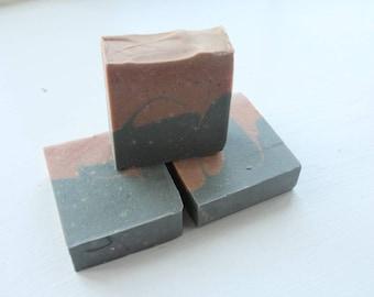 Madder Root & Charcoal Artisan Soap Handmade Soap Handcrafted soap Creative Soap Decorative Soap Perfect Gift