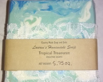 Tropical Treasures Creative Soaps Artisan Soap Handmade Soap Handcrafted Soap Perfect Gift