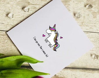 Unicorn Birthday Card Christmas Easter Mothers Day Fathers Day Valentines Day Daughter Wife Husband Sister Son Nan Nanny Gran Dad Mum