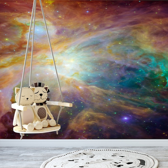 Space Wallpaper Galaxy Wallpaper Outer Space Wall Mural Etsy