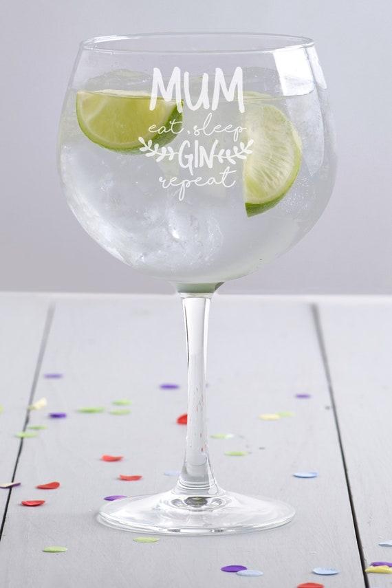 Stag Cumpleaños Vaso Regalo para Her.05 Globo Gin Vidrio