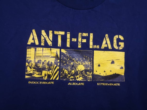 ANTI FLAG American Punk Rock  Band Tees 90's