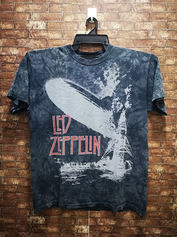 Vintage Led Zeppelin Tie Dyed Liquid Blue Tags 90'