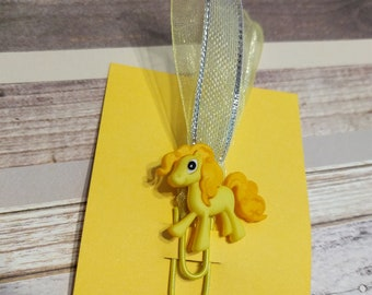 Little yellow pony paper clip
