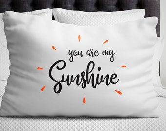 You are My Sunshine Pillow Gift for girlfriend/Boyfriend Birthday Valentines day Anniversary Bedroom decor Long distance Relationship Gifts