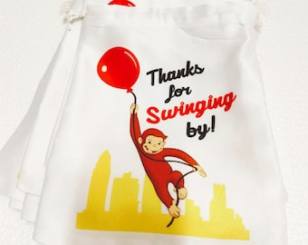 Curious George Personalized custom t shirt Party Favor Birthday present Gift