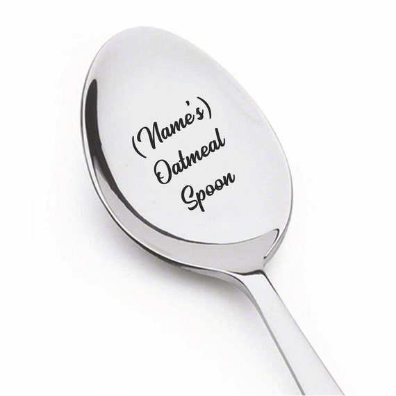 Coffee Spoon Personalized Gift Oatmeal Hand stamped spoon stamped spoon Gift Under 20 Spoon Oatmeal spoon
