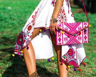 Boho colorful gypsy dress