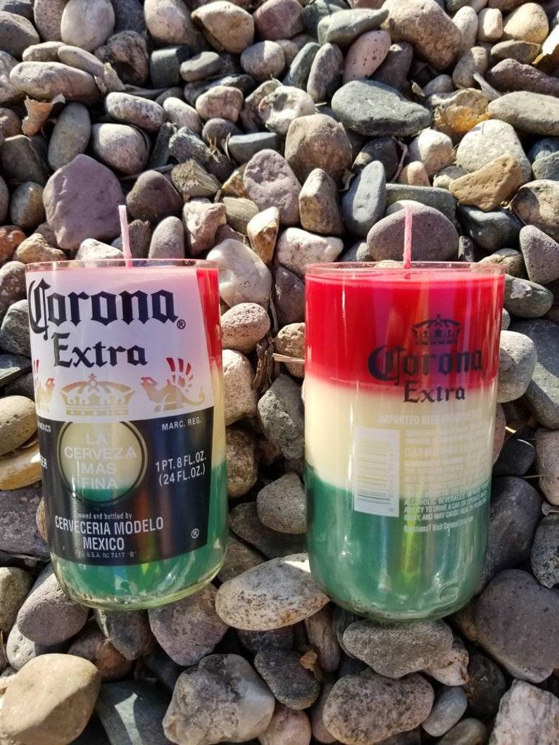 Cinco De Mayo Corona CandleMexican Flag Candle