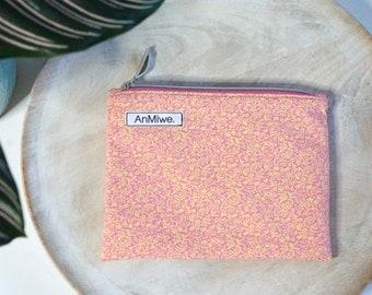 essentials-pouch / Stricktasche / knitting project bag / cosmetic bag / Geldtasche / Kuverttasche / flache Tasche mit Reißverschluss