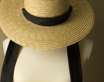 Vintage Gardening Tie Hat/ Floppy Hat/ Summer Hat/ Garden Hat