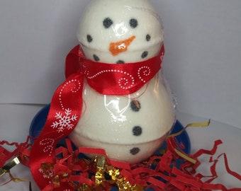 Snowman Bath Bomb Set // Stocking Stuffer // Bath Bomb //