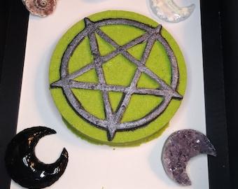 Blessed Be Pentacle/Pentagram Bath Bomb