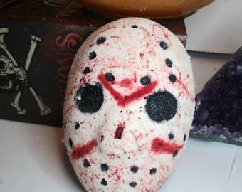 Bloody Hockey Mask/Jason Vorhees/Halloween Bath Bomb//Horror Bath Bomb