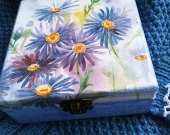 Wooden Floral Handmade Desoupage Box