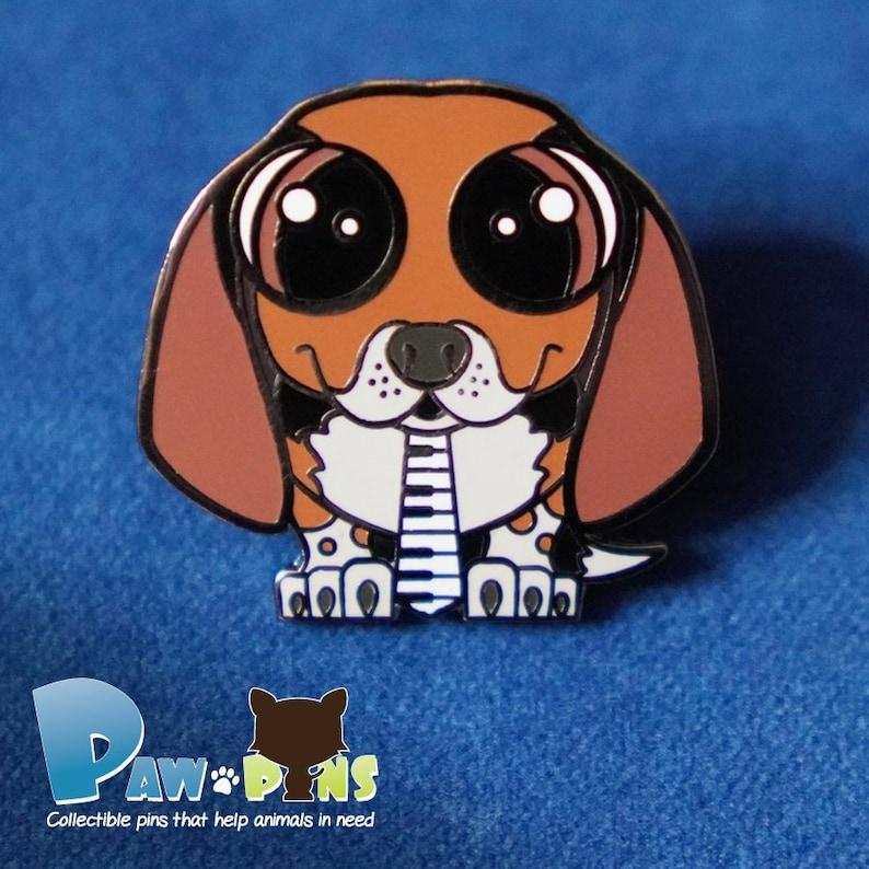 Cute Beagle Enamel Pin Beagle Pin Gift Hard Enamel Animal image 0