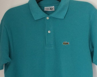 1bc7740fef33 90s Retro Vintage Clothing Clothes Mens Chemise Lacoste Polo Shirt Large  Made in France