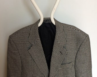 70s 80s Vintage Clothing Men's Centaur Jacket Blazer Small Black Small