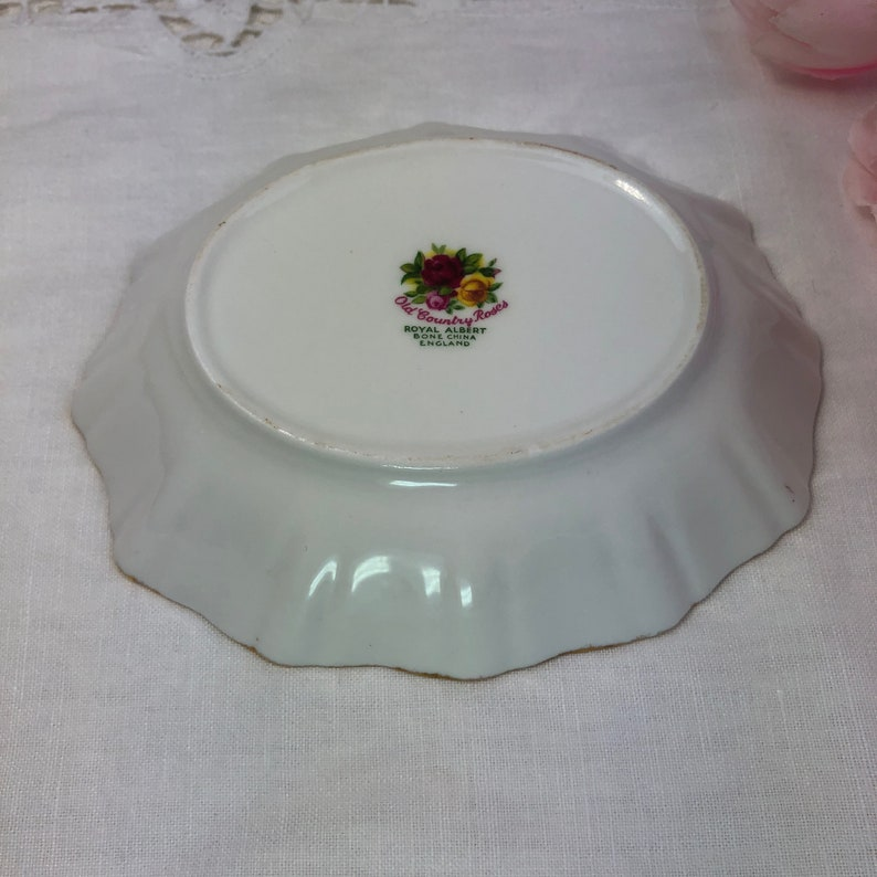 Candy dish by Royal Albert in Old Country Roses Design nut bowl bone china England