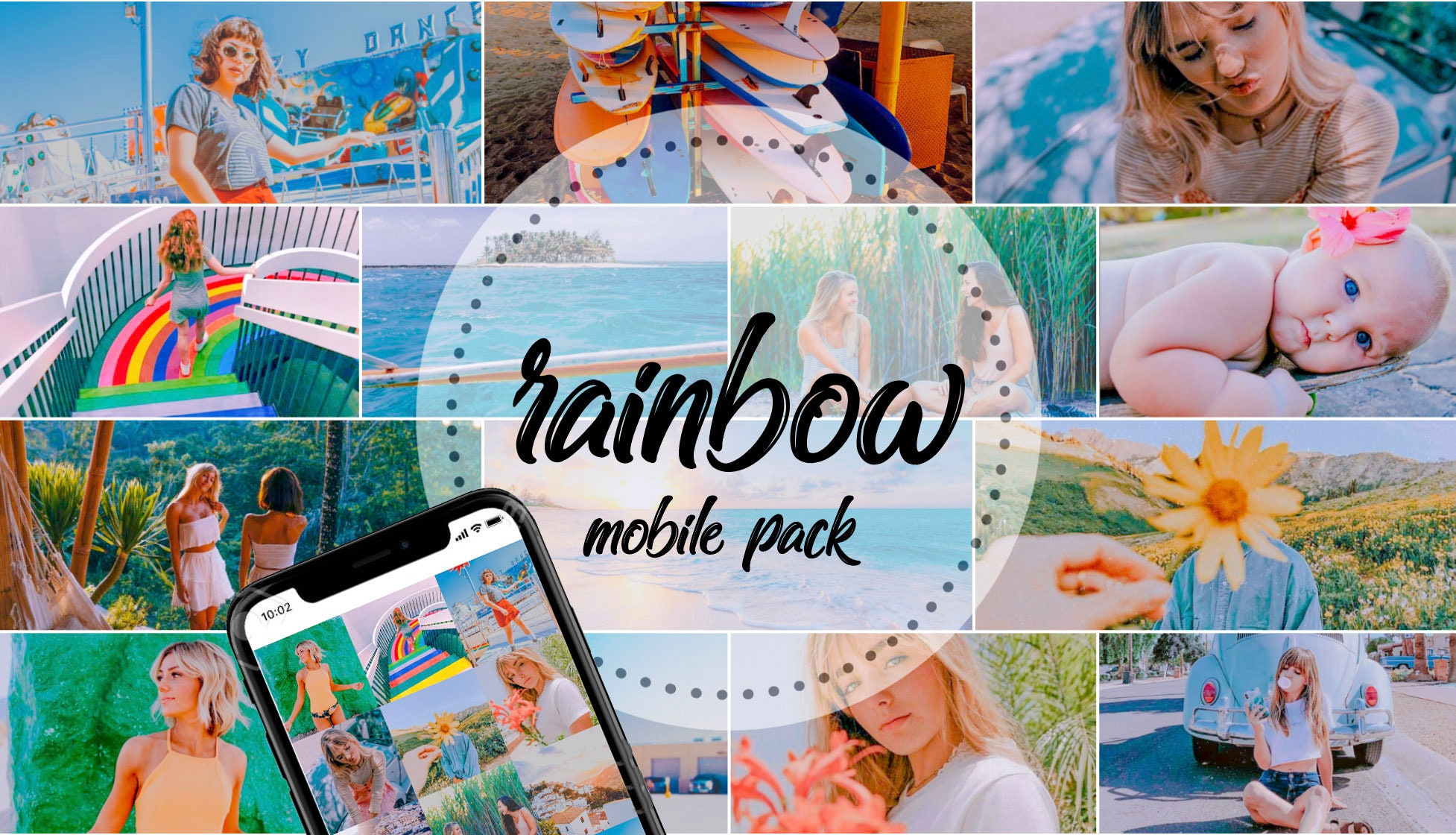 Rainbow Travel Lightroom Mobile Presets for Blogger, Portrait, Outdoor,  Travel Instagram & VSCO | WithCreativeIntent